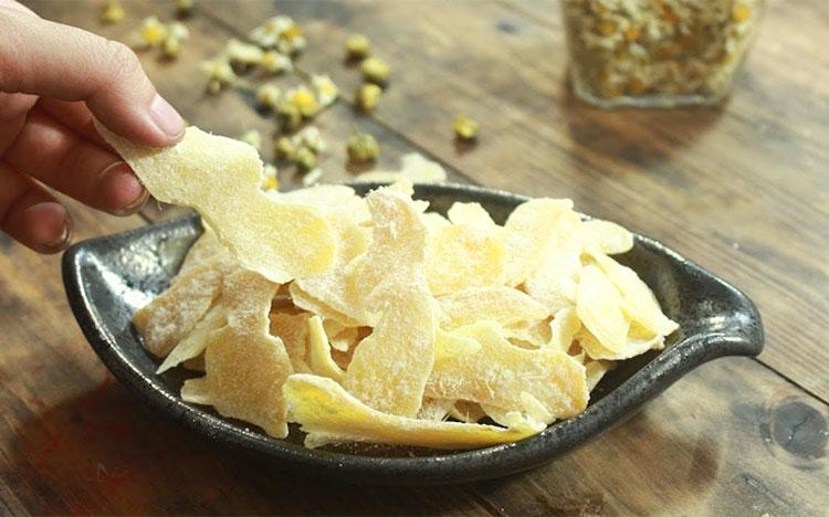 Mứt gừng Bảo Minh được ưa thích bởi hương vị thơm ngon đặc trưng và vị nồng ấm vô cùng hấp dẫn