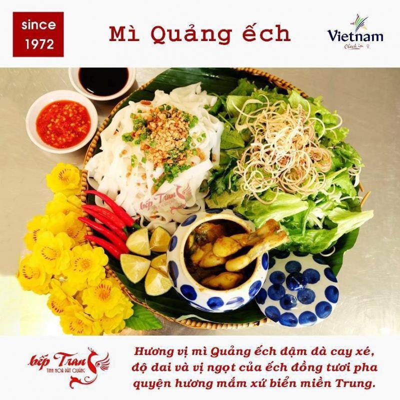 The dish made a stir when customers came to Da Nang - frog square noodles at Bep Trang