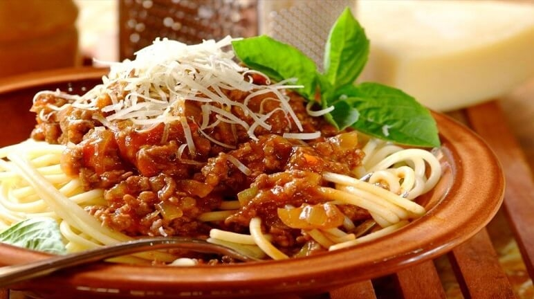 Mỳ spaghetty sốt bò băm