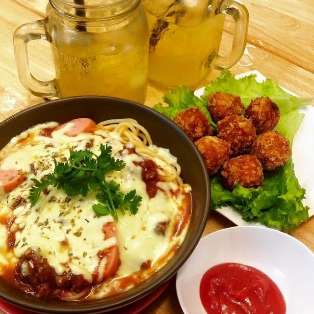 Mỳ Ý bò sốt phô mai đút lò (Nguồn ảnh Moon Fast Food)