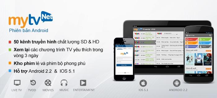 MyTV Net là ứng dụng xem tivi trực tuyến do Tập đoàn Bưu chính Viễn thông Việt Nam VNPT cung cấp