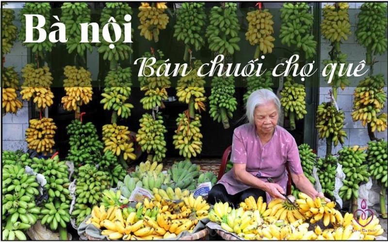 Hình ảnh chợ chuối miền quê