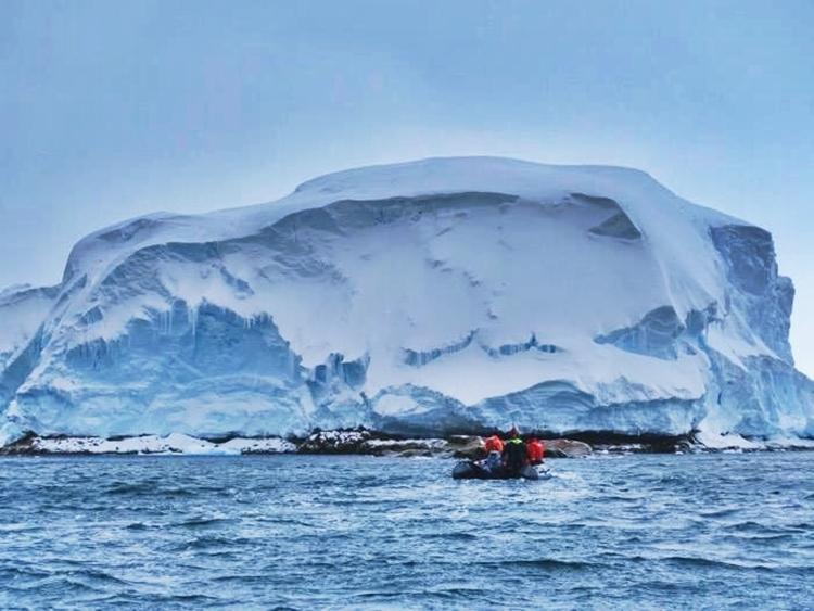 Nam Cực với sức gió kinh người.