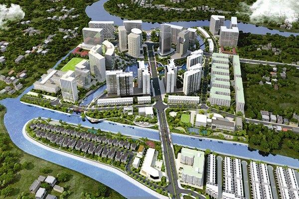 Phối cảnh khu đô thị Mizuki Park quy mô 26 héc ta ở Nam Sài Gòn