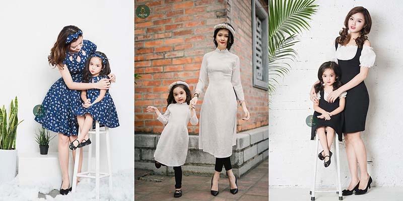 Váy áo điệu đà nữ tính cho mẹ và bé gái NANA shop