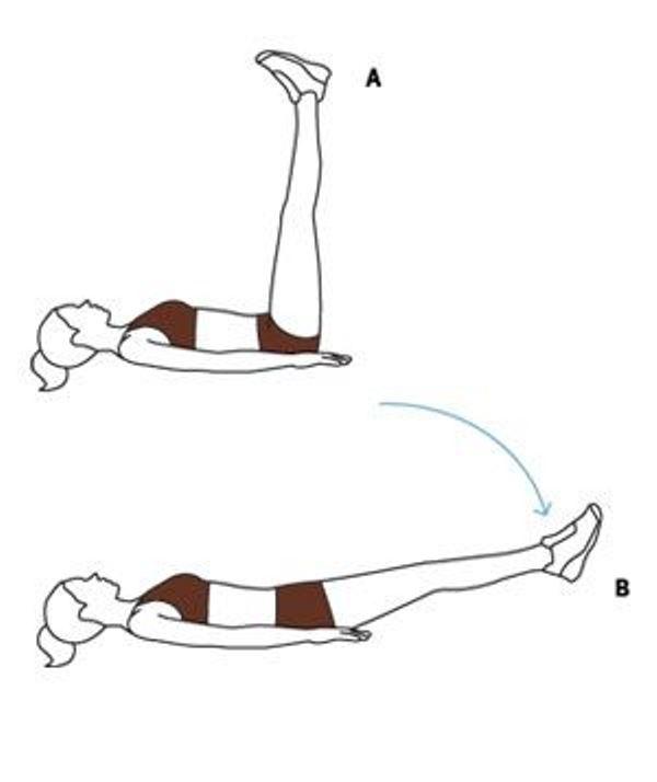 Nâng chân giúp giảm mỡ bụng