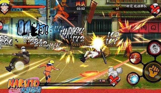 Giao diện game Naruto Mobile