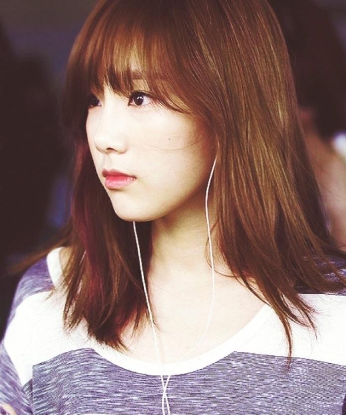 Taeyeon - Gam màu nâu hạt dẻ