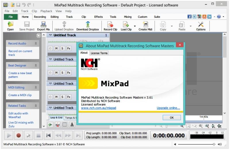 Phần mềm thu âm NCH MixPad