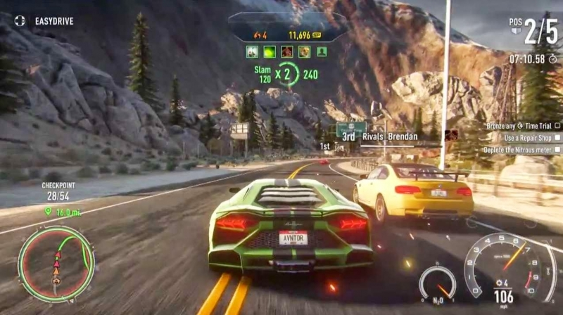 Giao diện Game Need for Speed