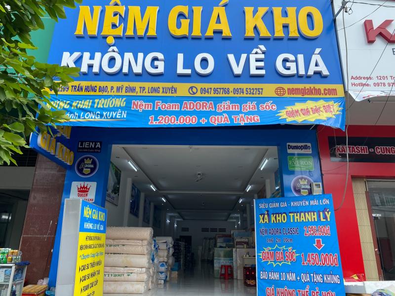 Nệm Giá Kho Long Xuyên An Giang