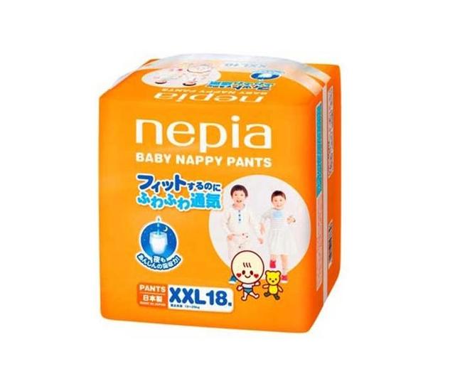 Tã giấy Nepia nổi bật với chất liệu từ bông tự nhiên, tạo được cảm giác mềm mại và khô thoáng
