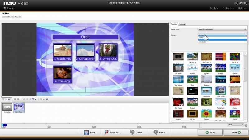 Nero Video có nhiều chức năng xử lí video độc đáo.