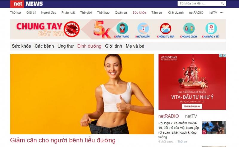 Chuyên mục dinh dưỡng trong Net News