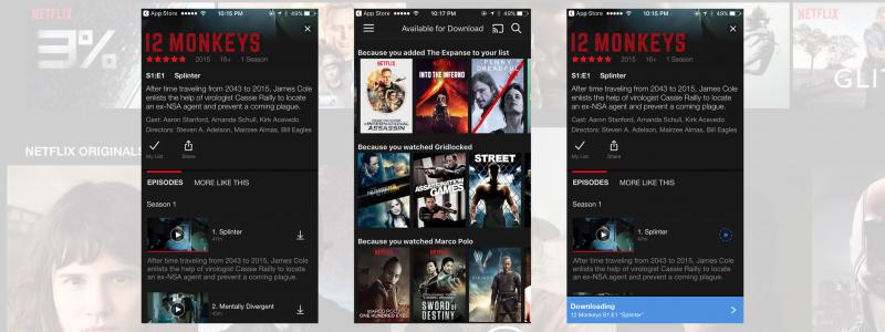 Ứng dụng Netflix trên iPhone