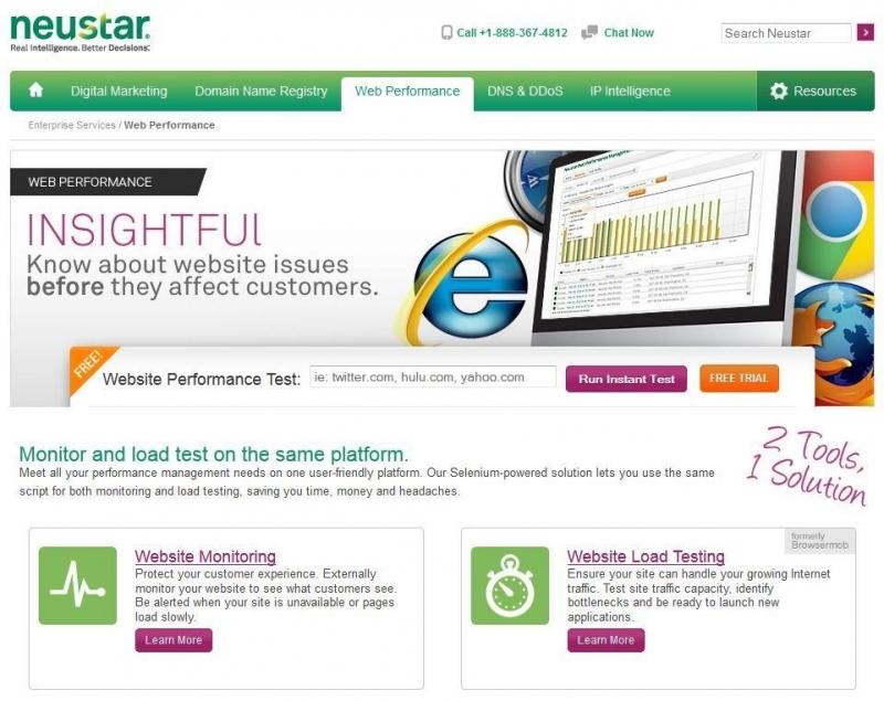 Do có server tại Singapore nên Neustar Web Performance có thể đánh giá tốc độ website ở Việt Nam rất nhanh.