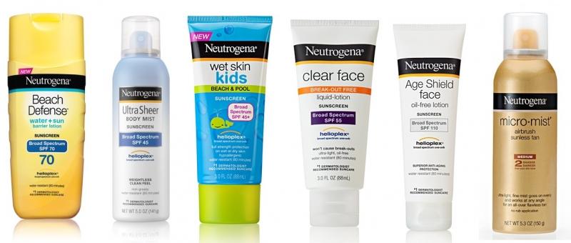 Các sản phẩm kem chống nắng của Neutrogena