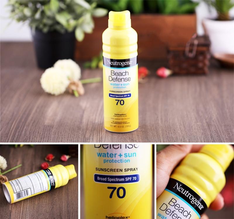 Neutrogena Beach Defense Water + Sun Protection Sunscreen Spray Broad Spectrum