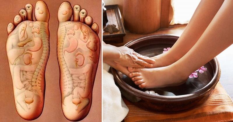 Ngâm chân bằng nước nóng là phương pháp trị bệnh của các đông y Trung Quốc xưa