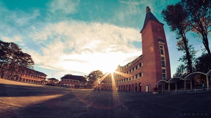 Bright sunset at Dalat College