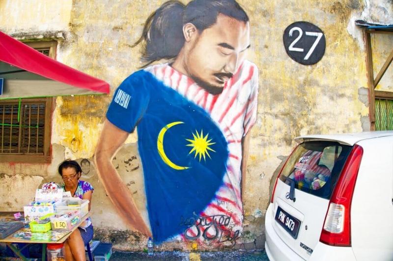Những bức tranh tường khổng lồ ở phố cổ George Town (Penang)