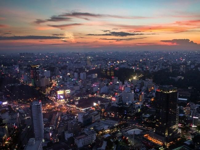 Thành phố Hồ Chí Minh nhìn từ tòa nhà cao nhất Bitexco - Nguồn: Sưu tầm