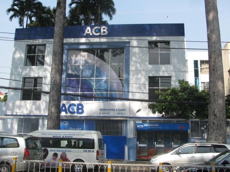 Trụ sở chính của ACB ở đường Nguyễn Thị Minh Khai, TP. HCM