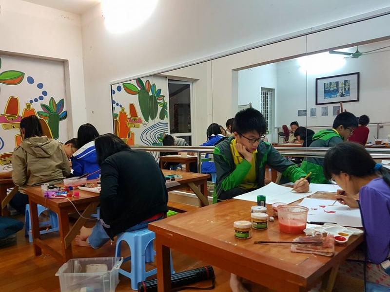Học vẽ tại Trung tâm nghệ thuật Hoa Tâm