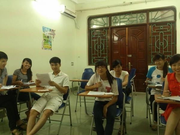 Lớp học tại Ngoại ngữ Kevin