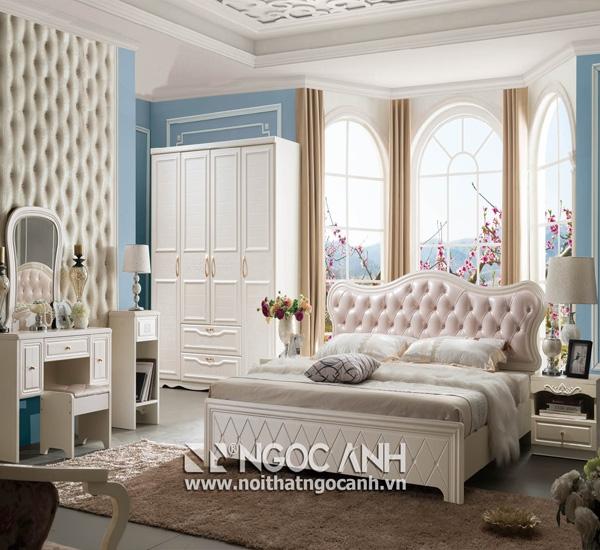 Một mẫu phòng ngủ được thiết kế và lắp đặt bởi Ngọc Anh.