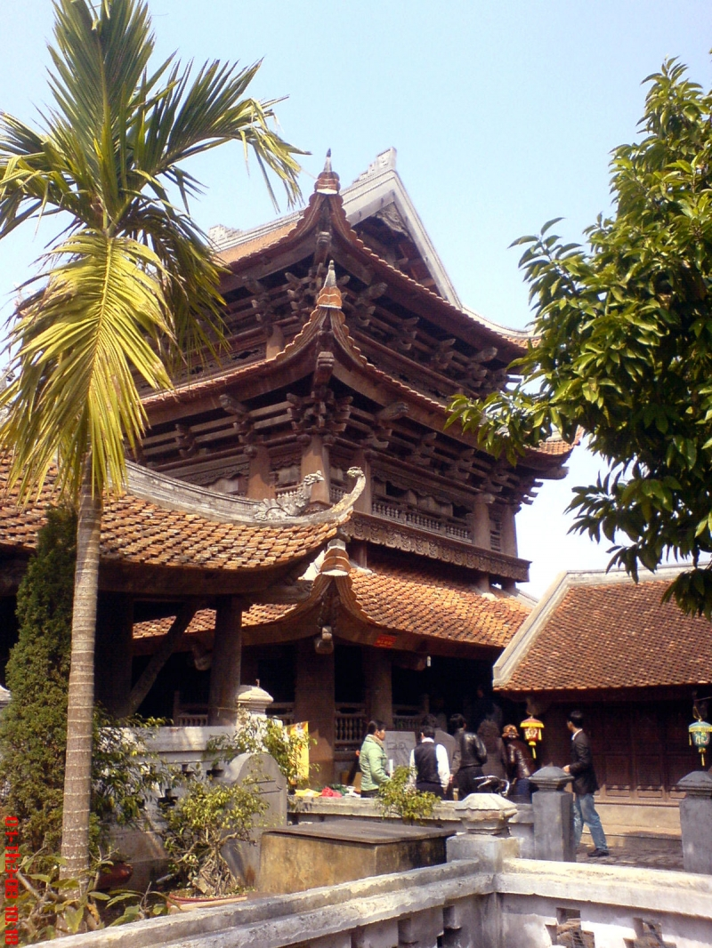 Một góc chùa Keo-Thái Bình nhìn từ xa