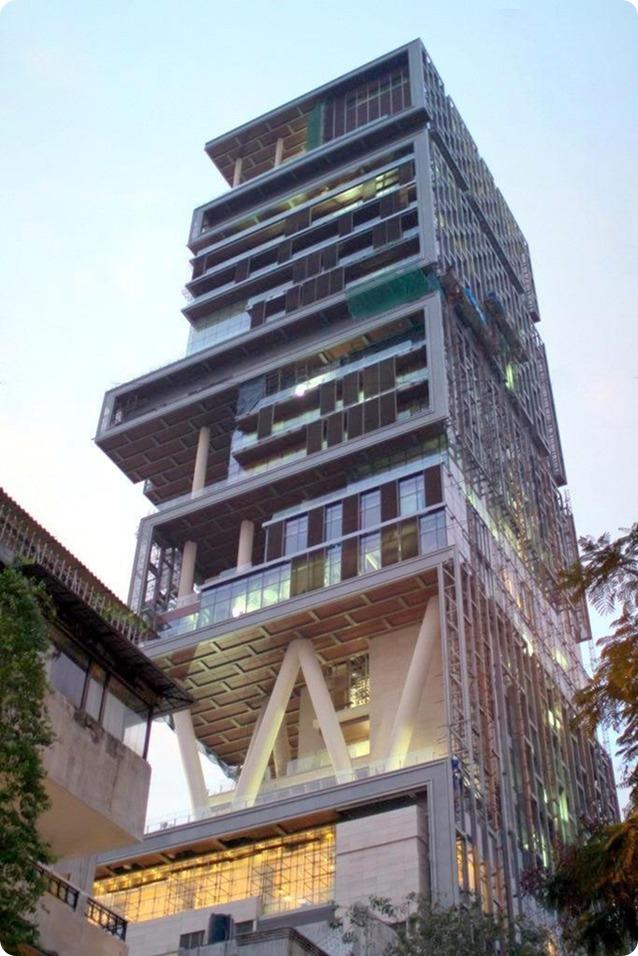 Ngôi nhà đắt giá nhất thế giới: Antilia, Mumbai, Ấn Độ – có giá 1 tỷ đô la Mỹ