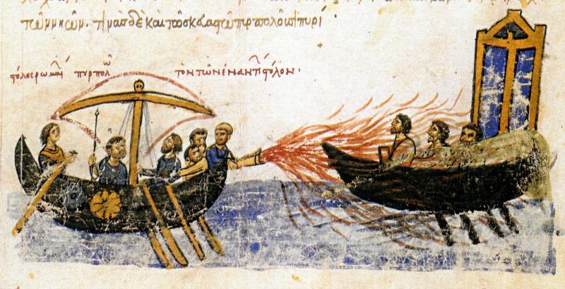 Ngọn lửa hóa học bí ẩn của người Hy Lạp