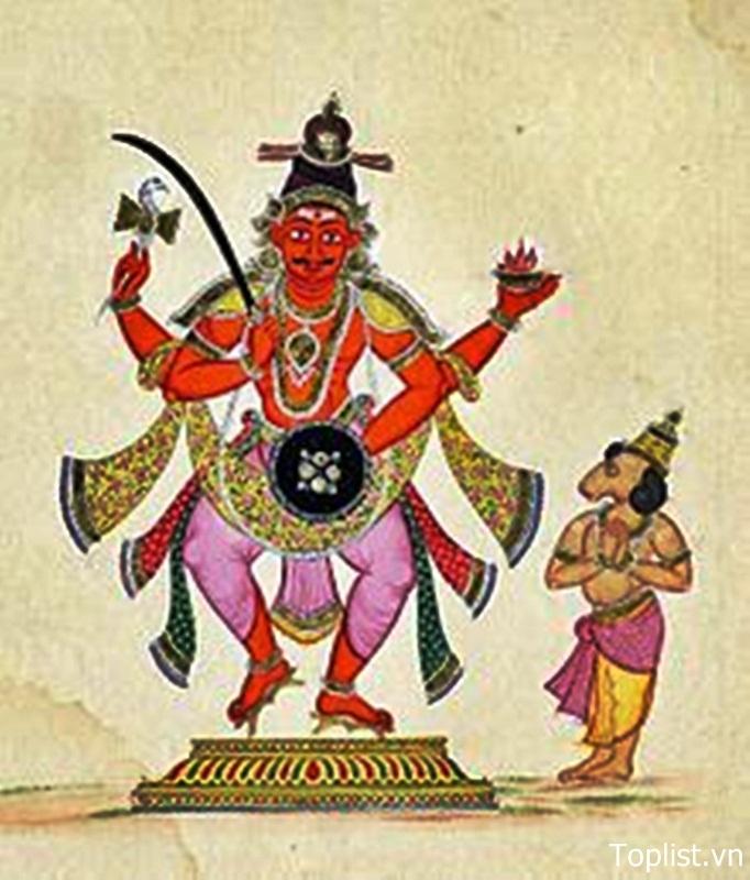 Vị vua Prajapati Daksha (hình nhỏ bên cạnh)