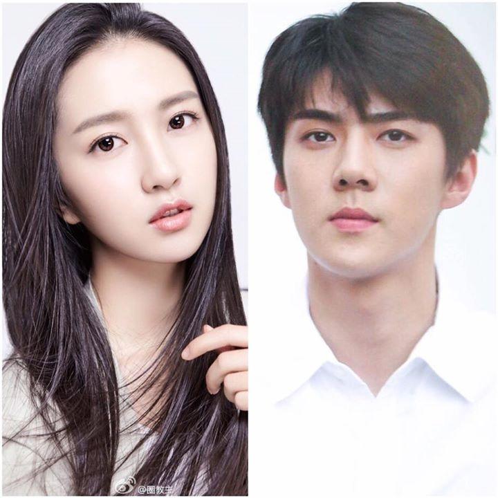 Sehun (EXO- ảnh phải) sẽ thủ vai nam chính trong phim My dear Archimedes và nữ diễn viên Hứa Linh Nguyệt (trái) có thể sẽ thủ vai Chân Ái trong phim