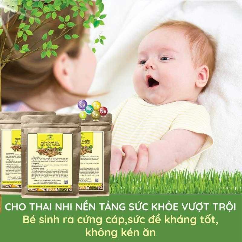 Ngũ cốc cho bà bầu Queen Nature cung cấp đầy đủ hàm lượng Axit Forlic, Sắt, Canxi, Omega3, DHA hoàn toàn từ thiên nhiên và các nguyên tố vi lượng, vitamin do đó giúp mẹ bầu có được một thai kỳ khỏe mạnh