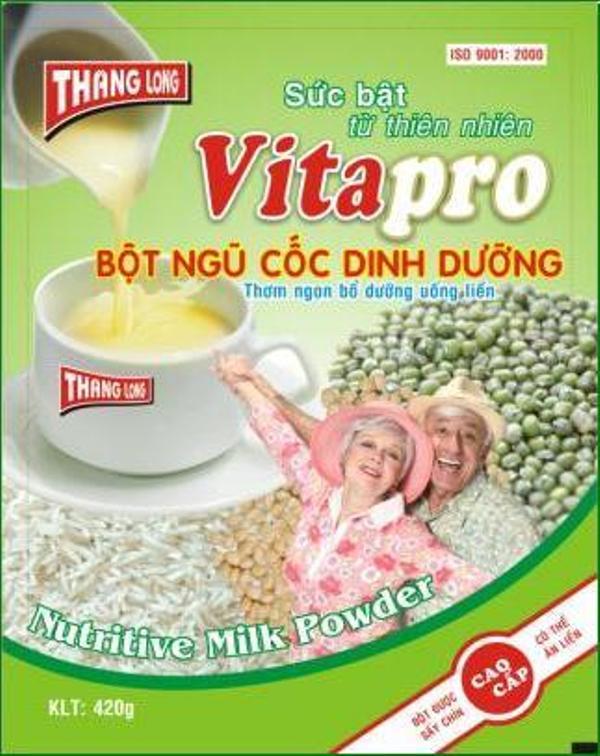 Kết quả hình ảnh cho Ngũ cốc dinh dưỡng Vita Pro