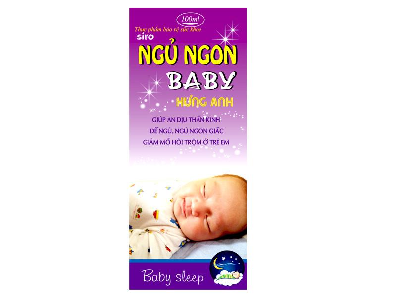 Ngủ ngon baby Hưng Anh 100ml - Giúp trẻ ngủ ngon hiệu quả