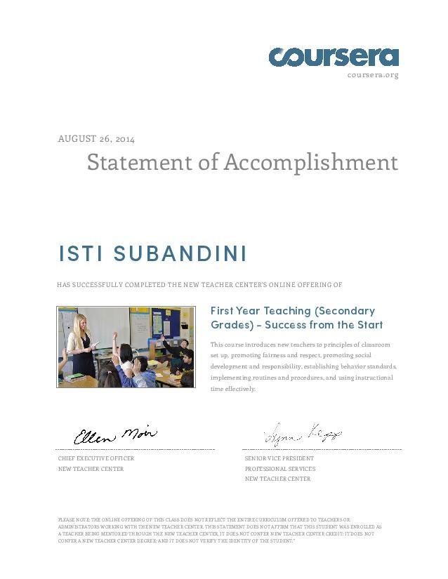 Bảng chứng nhận thành tích cho các học viên