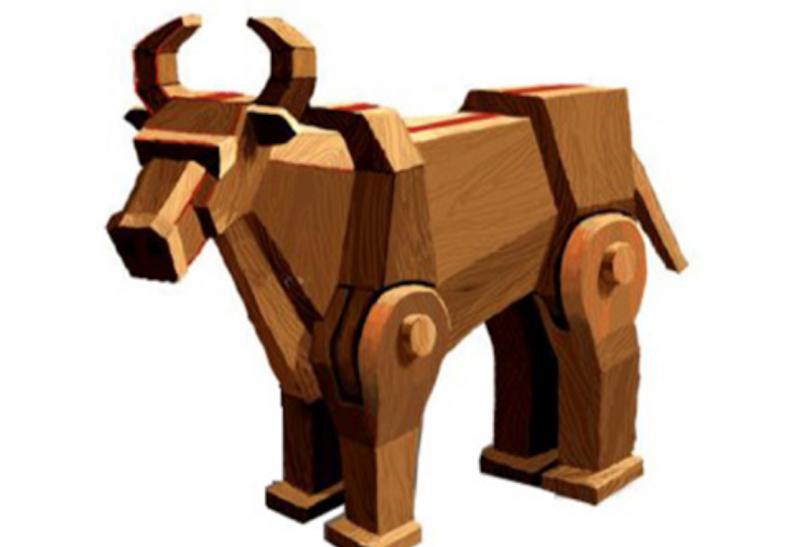 Ngựa gỗ, trâu máy