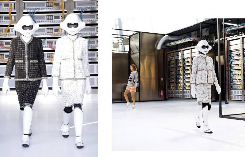 Người mẫu robot trên sàn diễn của Chanel