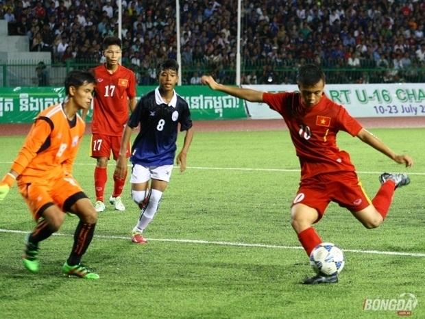 Khắc Khiêm chính là cầu thủ tấn công xuất sắc nhất của U16 Việt Nam.