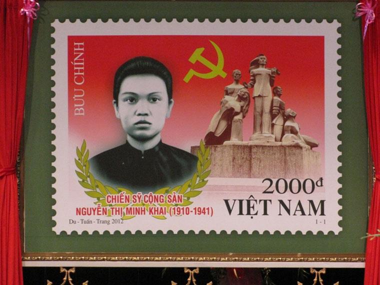 Bưu chính Việt Nam in hình bà.