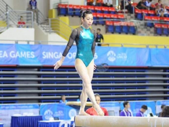 Nguyễn Thị Nga là vận động viên thể dục dụng cụ Việt Nam đầu tiên giành được huy chương vàng tại một kỳ SEA Games.