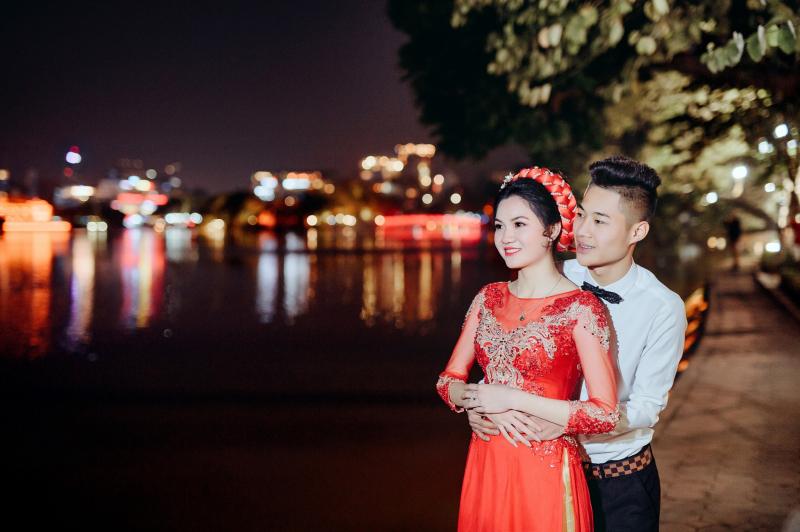 Áo dài cưới đẹp của Nguyên Vũ Studio