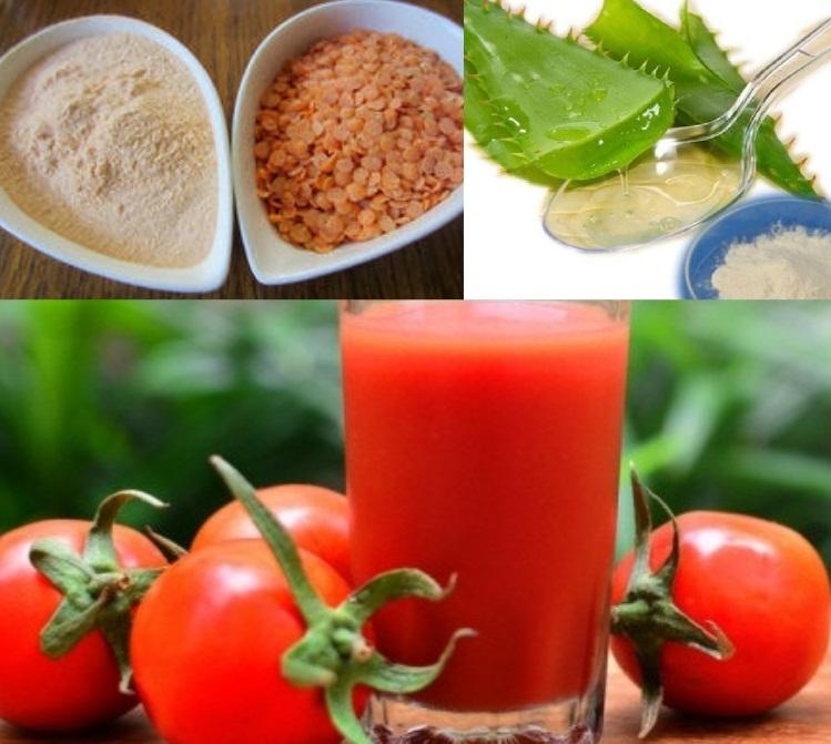 Nha đam với cà chua và đậu lăng