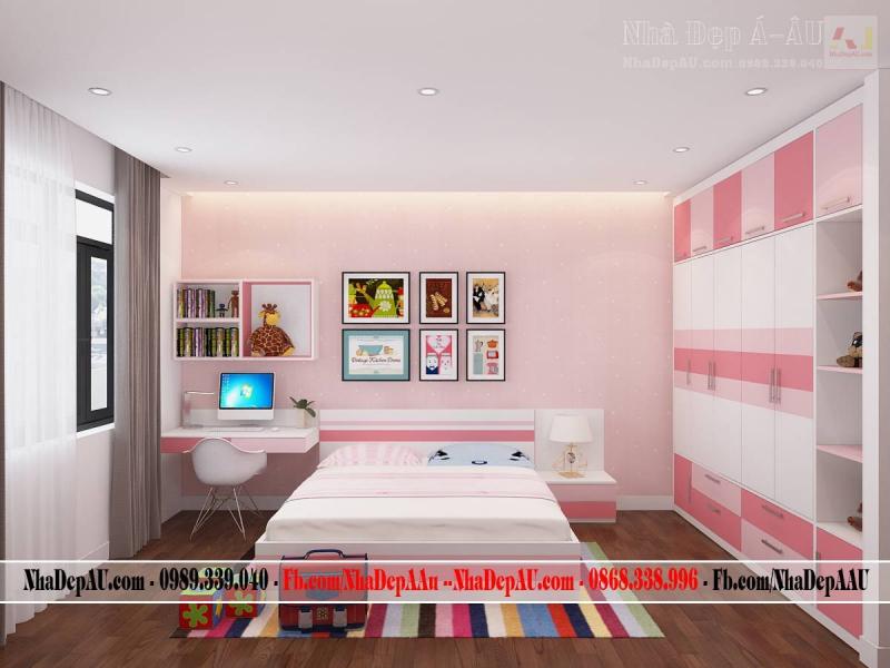 Nội thất phòng ngũ mang phong cách Teen của Nhà đẹp Á Âu