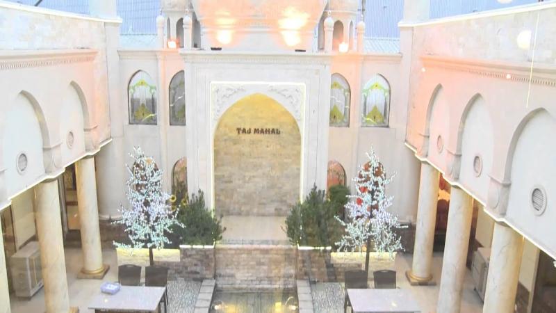 Khu vực đền Taj Mahal tại nhà hàng 7 Kỳ Quan