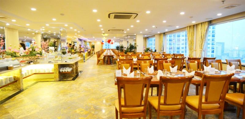 Nhà hàng Buffet Sen Việt nằm trên tầng 18 của Sahul Hotel tiêu chuẩn 4 sao