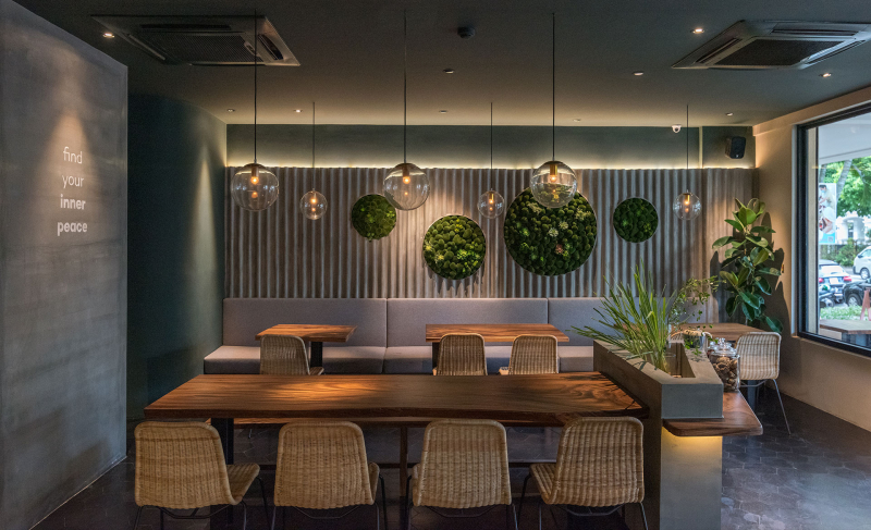 Không gian cực kỳ xanh, sạch, sang trọng, rộng rãi, ấm cúng của AN & Cafe quyến rũ biết bao nhiêu thực khách